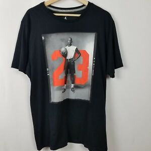 d0840df0621 Nike Jumpman Mens Shirt Size XL Black T-Shirt Basketball Michael ...