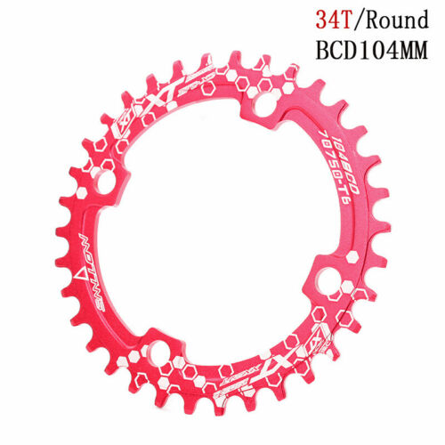 MTB Bike Round Chainring Chain Ring Single Disc BCD 104mm 32//34//36//38T Sprocket