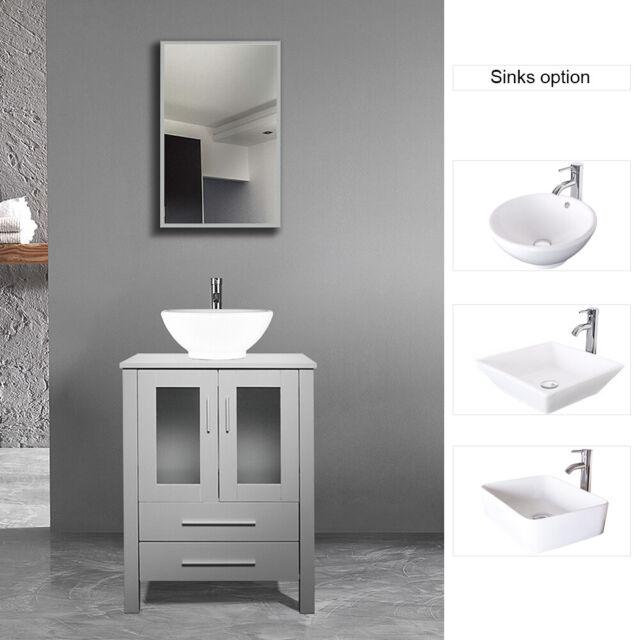 Modern Furniture 24 Inch Single Sink Bathroom Vanity With Square Ceramic  Sink Up For Sale Online EBay