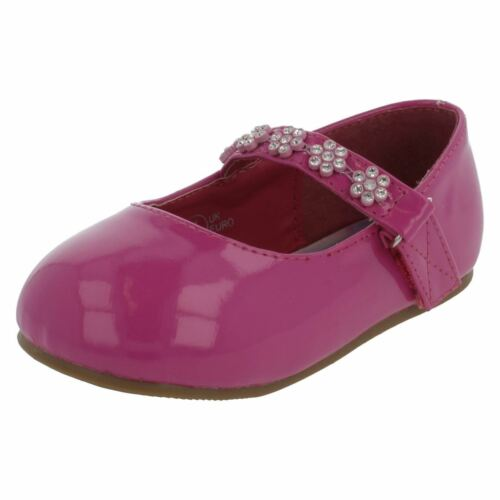 R30A Savannah H2R284 Girl/'s DarK Pink Patent Rip Tape Fastening Shoes Kett