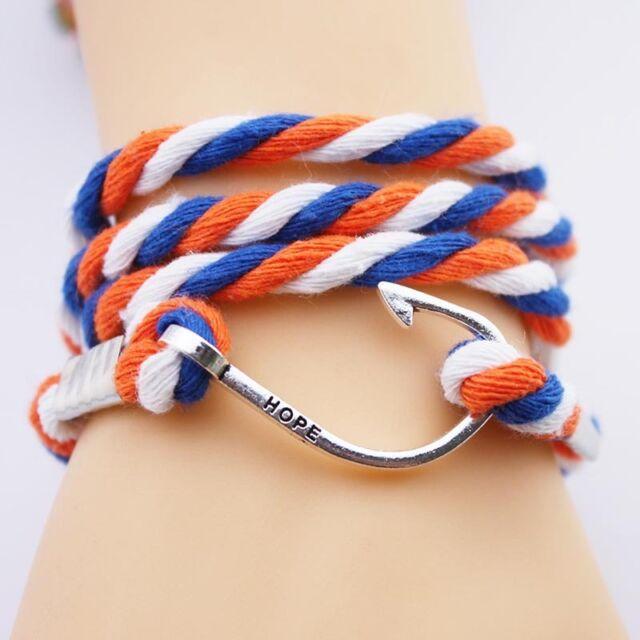 Adjustable Women's woven bracelet multilayer handmade fishhook fashion bracelets