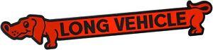Auto-Relief-Schild-Aufkleber-3D-LONG-VEHICLE-rot-18-cm-HR-Art-4701