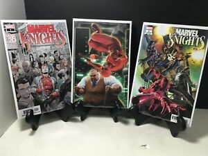 Andrews Connecting Set Marvel 2018 NM+ Marvel Knights 20th 3 Main Cover