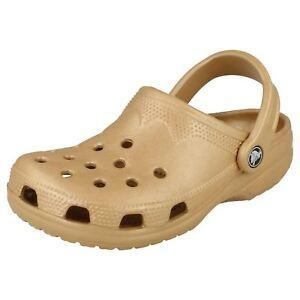 da donna color oro Crocs stile spiaggia