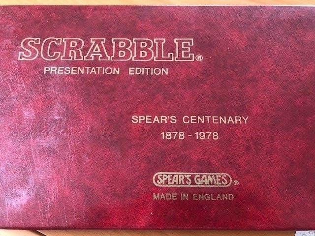 Vintage Scrabble Presentation Collectors Spear's Centenary 1878-1978 Presentation Scrabble Edition. 529c22