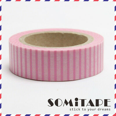 Craft Decorative Tape Pink Vertical Lines Washi Tape