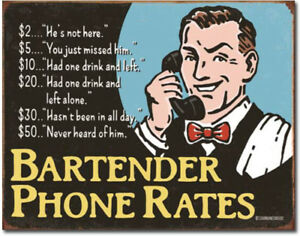 Bartenders-phone-rates-Metal-tin-sign-funny-home-garage-Bar-Shop-Wall-decor-new