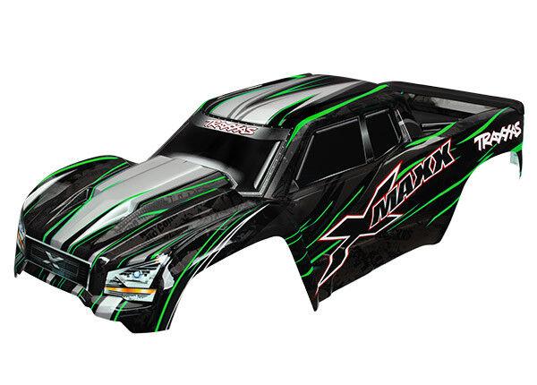 TRAXXAS 7711G Carrozzeria X-MAXX Verniciata verde BODY X-MAXX verde
