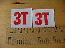 3T logo Mtb / Bike Decals Matt Self Adhesive  A Pair (5) FREEPOST WORLDWIDE