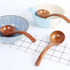 Wooden Deep Ladle Scoop Cooking Spoon For Serving Spoon Soup Porridge New ku