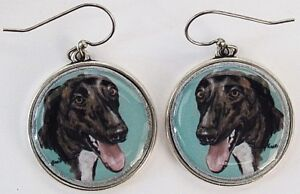 Greyhound-Original-Art-Earrings