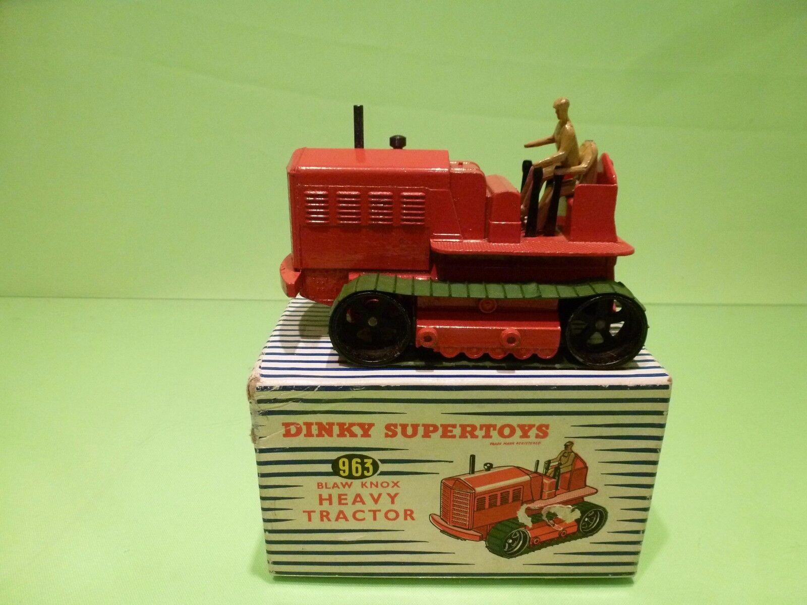 Dinky Dinky Dinky Juguetes 963 blaw Knox tractor pesado - - rojo - contenedor en perfecto estado. d5d