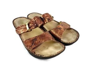 Alegria-Women-Karmen-Copper-Snakeskin-Pattern-Strap-Sandal-Size-8-8-5-M-Casual