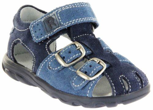 Richter Kinderschuhe Lauflerner-Sandalen blau Velourleder 2105-342-7202 Terrino