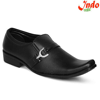 Indo Black Formal Shoes (PRN0039NL) For Men