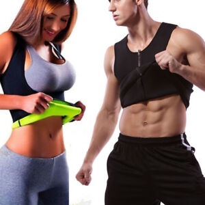 1e120b1280391c Men Neoprene Body Shaper Sauna Vest Cami Hot Gym Women Sweat Thermal ...