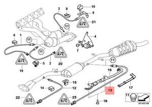 Details About Genuine Bmw E46 Cabrio Coupe Lambda Probe Oxygen Sensor 765mm Oem 11787506531