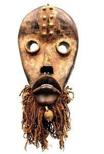Art-Africain-Ethnographique-Masque-de-Chanteur-Dan-Jolis-Ornements-31-Cms
