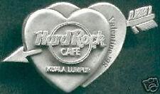 Hard Rock Cafe KUALA LUMPUR 1998 Valentine's Day PIN Pewter Heart - HRC #4285