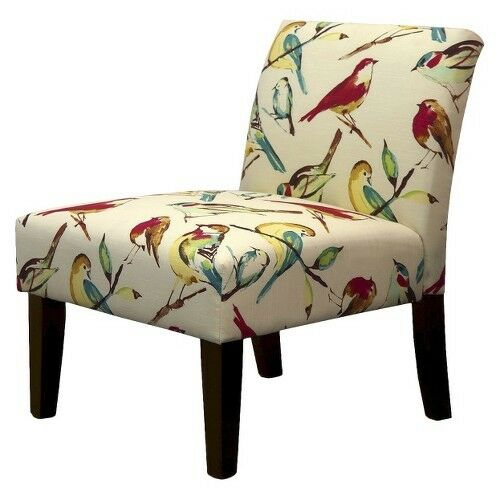 Avington Upholstered Slipper Chair - Birds