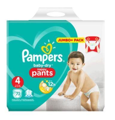PAMPERS PANTS Gr 104 STÜCK MEGAPACK MONATSPACK WINDELN 9-15kg  **NEU** 4