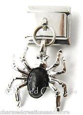 Black Widow Spider Halloween 9mm Italian Charm Stainless Steel Dangle Link