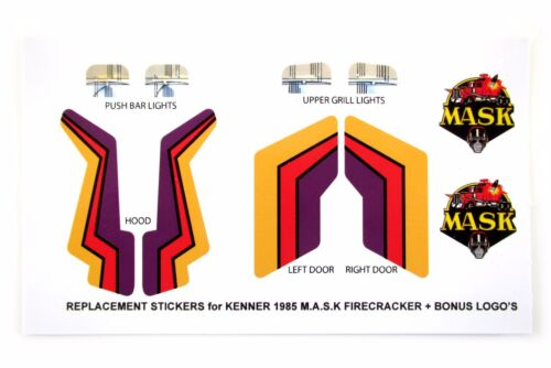 MASK stickers for KENNER M.A.S.K FIRECRACKER Stickers Personalized with Extra/'s
