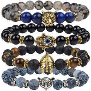 c0c8277d64e Image is loading 7-Chakra-Natural-Stones-Bracelets-Healing-Beads-Jewellery-