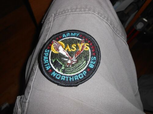 ARMY NORTHRUP SPARTA BES ASVS Embroidered Patch Rare