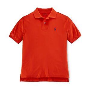 Polo Little Ralph Solid 2467 Boys Orange Lauren Active Kids nO0k8wP