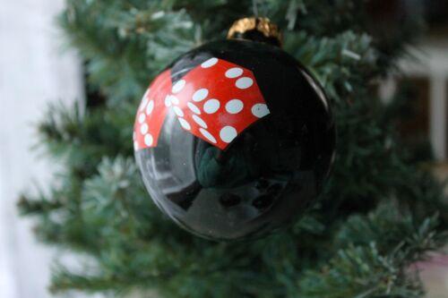 GLASS VEGAS GAMBLER GAMBLE DICE CHRISTMAS BALL ORNAMENT