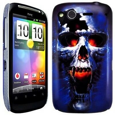 lowest price 9fe5c 5d5b7 HTC Desire S Blaze Skull Series Hard Shell Case Back Cover | eBay