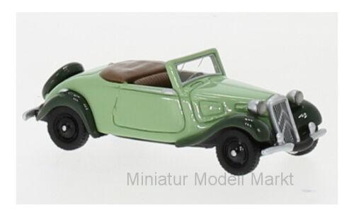 bos-models citroen Traction Avant cabriolet-verde 1936-1:87 #87730