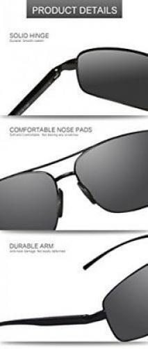 Hommes Femmes Rétro Classique Lunettes de soleil polarisées cadre en métal 100/% UV400 Aviateur