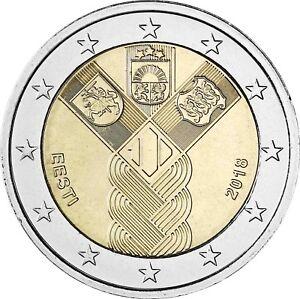 Estonia-2-Euro-100-Years-Independence-2018-Bank-Fresh-Community-Edition