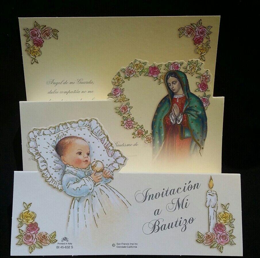 100 invitaciones de, un mi BAUTIZO (Espagnol Baptême Baptême Invitations Fête