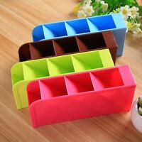 Desk Storage Box Cosmetic Organizer Clear Makeup Case Jewelry Holder Plastic DIY
