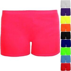 fille-coton-lycra-etire-Gym-Gymnastique-Danse-enfants-neon-Short-court-short