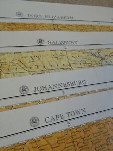 1950-039-s-Map-Lot-of-4-maps-of-Republic-of-South-Africa-Joberg-Capetown