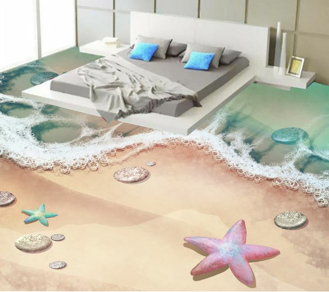 3D Dream Beach Waves 030 Floor Wallpaper Murals Wall Print Decal 5D AJ WALLPAPER