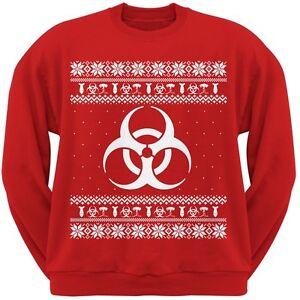 da Natale maglione rossa simbolo Biohazard pericolosa adulto maglione Felpa T7add