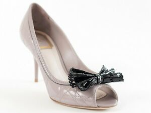 7 Lace Grey Dior 5 Chaussures 37 5 Cannage taille Nouveau Us cuir en verni byY6f7g