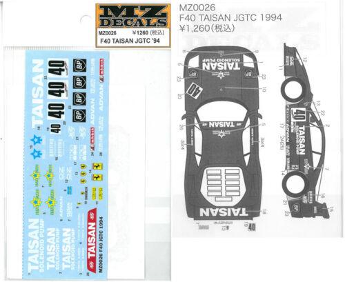 Mz Decals F40 Taisan Jgtc /'94 pour Kyosho Mini-Z Mz0026 Sticker Nouveau de Japon