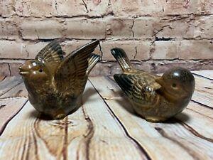 Vintage-Otagiri-Sparrow-Bird-Figurines-with-Original-OMC-Japan-Stickers-Set-of-2