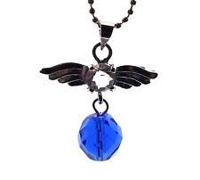 Guardian Angel Inspired Siberian Blue Quartz Crystal Pendant