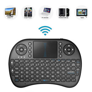 2.4GHz Mini Mobile Wireless Keyboard with Touchpad Remote Control with Rechargable Li-ion Battery for JVC LT-32C675 32 Smart TV