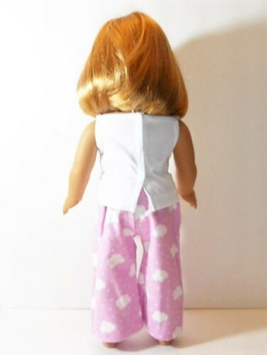 """Doll Clothes 18/"""" Pajamas Pink Cloud White Top Fits American Girl Dolls"""