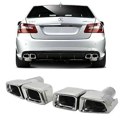 New Benz W221 W212 AMG Sqaure Muffler Tip Pipe For Mercedes C// S// SL// SLK Class