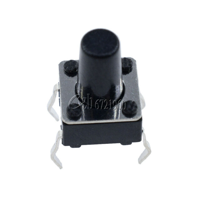 100Pcs Tactile Push Button Switch Tact Switch 6X6X9mm 4-pin DIP