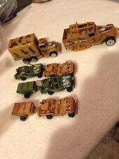 Lot of 6 Vintage Zylmex Military Vehicles